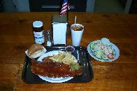 Bar-B-Q Rib Plate with the Mild Red Sauce